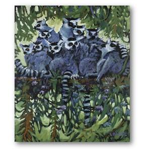 Lewis Levoie Art: Lemurs