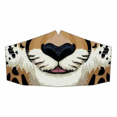 Peppermint Narwhal Face Mask: Cheetah