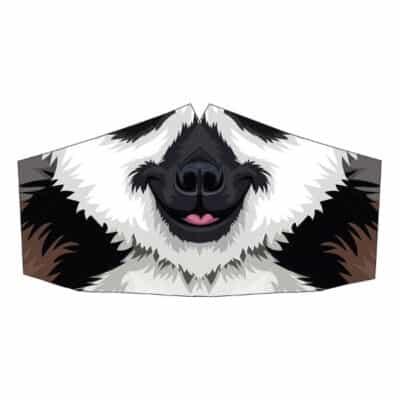 Peppermint Narwhal Face Mask: Lemur
