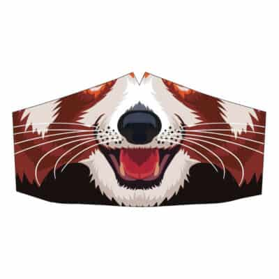 Peppermint Narwhal Face Mask: Red Panda