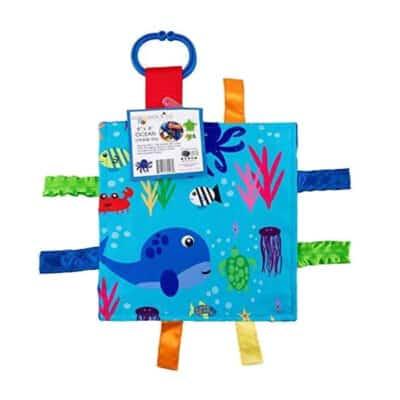 Baby Jack Ocean Fish Crinkle Square