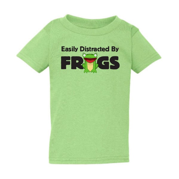 Easily Distracted By Frogs Toddler T-shirt